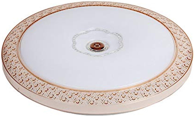 MackeJacke Led Deckenleuchte Einfache Acryl Runde Beleuchtung Deckenleuchte 50  50 cm TriFarbe Licht (48 Watt)