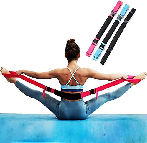 WWJ - 3 Cinturones elásticos de Yoga, Banda elástica de Ballet, estirador de piernas Ajustable, Muy Adecuado para Yoga, Pilates, Ballet, Danza, Fitness, Gimnasia, Estiramiento, Entrenador