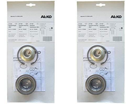 FKaanhangeronderdelen 2 x ALKO - Wiellager 1224802 - lager 64/34x37 mm + wielmoer + zekering