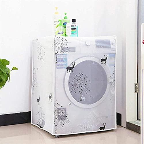CUBIERTA FRENTE DE LAVADOR DE LAVADOR DE LAVADOR Y LAVADORA DE LAVADO FUERZA A prueba de agua Protector solar a prueba de polvo y anti-envejecimiento Lavadora automática para exteriores (Color: D)-mi