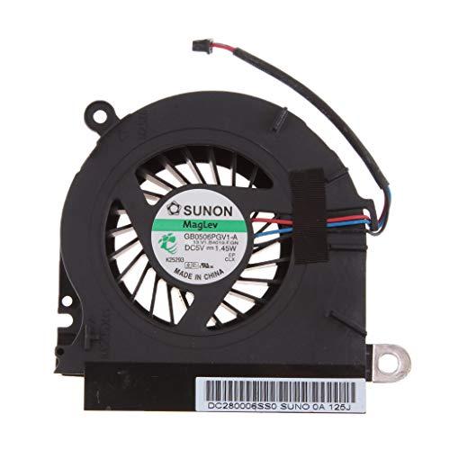 perfk Profesional CPU Cooling Fan para Portatil Compatible para HP Probook 6440B 6445B 6540B 6545B