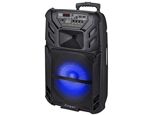 Trevi XFEST XF 1500 KB Altoparlante Amplificato Portatile con Mp3, USB, MicroSD, AUX-IN, Bluetooth, Batteria Integrata, Karaoke Party Speaker con Micr