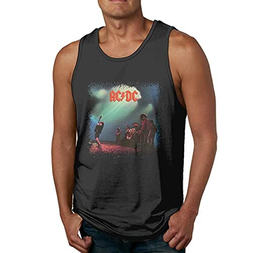 ACDC Let There Be Rock Tshirt Mens Soft Sleeveless Shirts Cool Bodybuilding T-Shirts