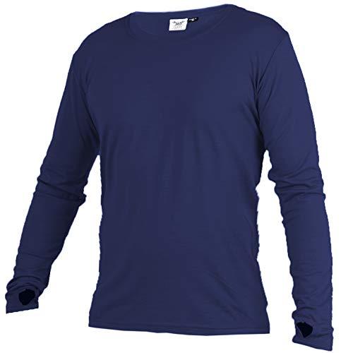 Merino 365 OG Light 100% New Zealand Merino Longsleeve Baselayer Thermal Shirt with Thumbloops, Medium-Tall, Sapphire