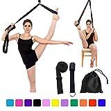 Manco Luella Bande élastique réglable pour étirer les jambes - Facile à installer sur la porte - Flexibilité - Étirement des jambes - Excellent équipement d'entraînement pour la danse et la gymnastique