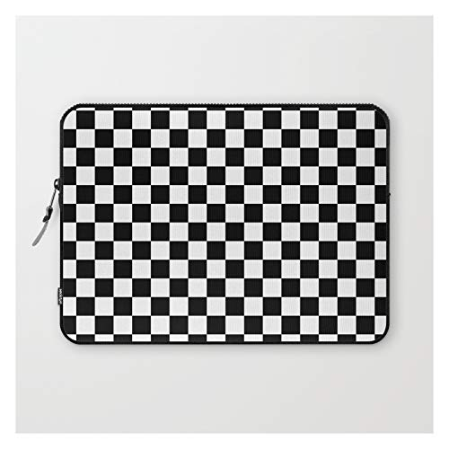 Black Checkerboard Pattern by Coolfunawesometime on Laptop Sleeve - Laptop Sleeve - 13'