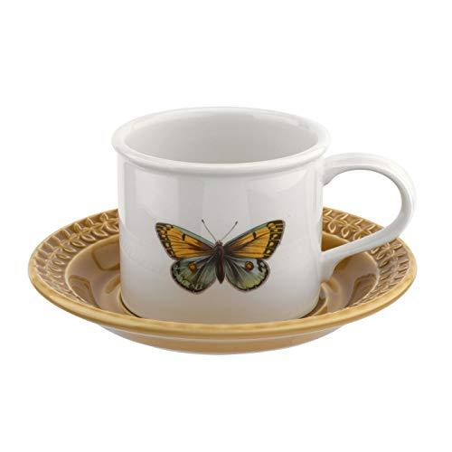 Portmeirion BAAMYT04153 Botanic Garden Harmony - Taza de desayuno con platillo, color verde musgo, cerámica