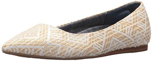 Dr. Scholl's Shoes Damen Leader Ballerina flach, Weiá (Natural Raffia), 38.5 EU
