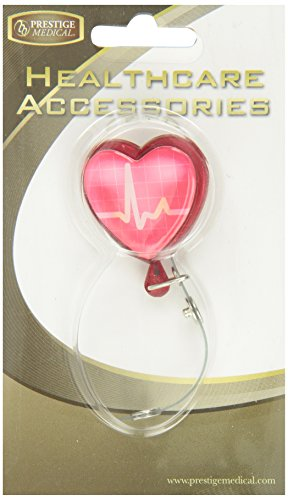 NCD Medical/Prestige Medical S13-EKG Retracteze ID Holder- Heart Beat