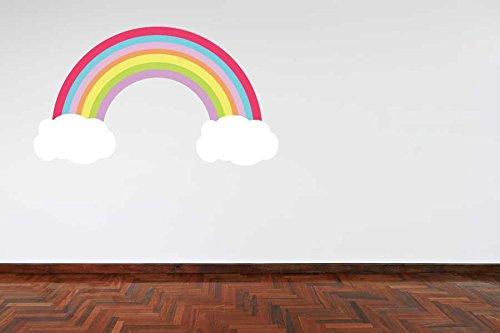 60 Second Makeover Limited A TODO COLOR color pastel Arcoiris y Nubes Dormitorio Niña Adhesivo de Pared Niños Decoración De Dormitorio Cuarto del Bebé Habitación Bebé - Large