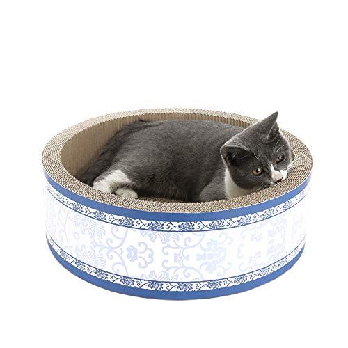 bobipaw Almohadillas redondas del tablero de la cartulina del rascador, cama del gato, sofá del gato