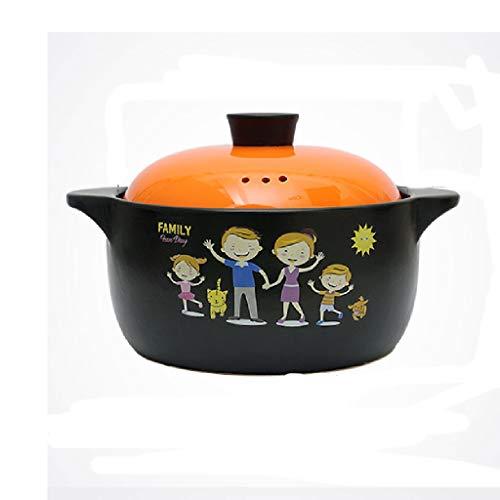 YWSZJ Cerámica cazuela Cubiertos con Tapa, Olla de Barro de Tierra Pot Sopa de Cebolla Crocks Coreana Bibimbap Olla Sopa de Olla (Color : A)