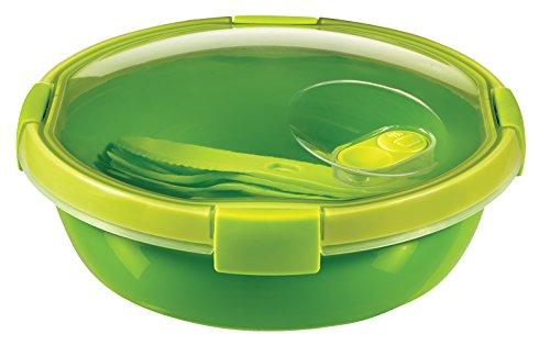 CURVER 232568Smart to Go Piatto con Posate Plastica Verde 20x 20x 9cm