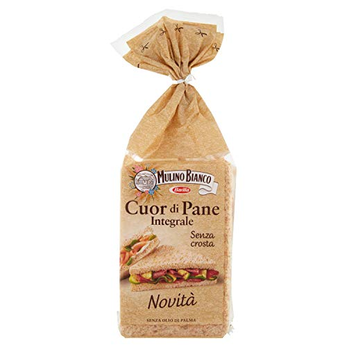 Mulino Bianco Cuor di Pane Integrale Senza Crosta, Ideale per Tramezzini, Sandwich e Tartine, 325 g