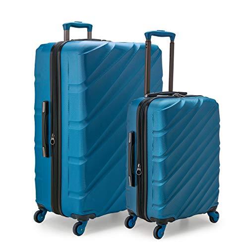 U.S. Traveler Gilmore Expandable Hardside Spinner Luggage Set, Blue, 2-Piece