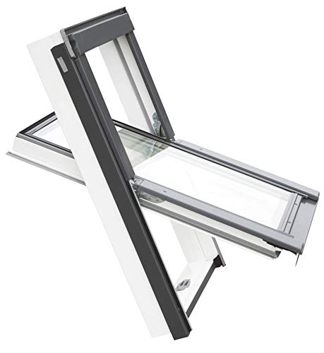 Balio Dachfenster APB aus Kunststoff incl. Universal - Eindeckrahmen 0-50mm (114 x 112)