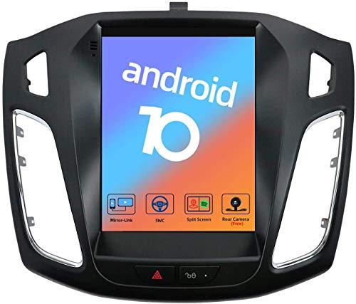 JALAL Navegación GPS Android 10 para Ford Focus 2010-2017 9.7'Pantalla táctil Estéreo Sat Nav Reproductor Multimedia Auto Radio Soporte Control de teléfono