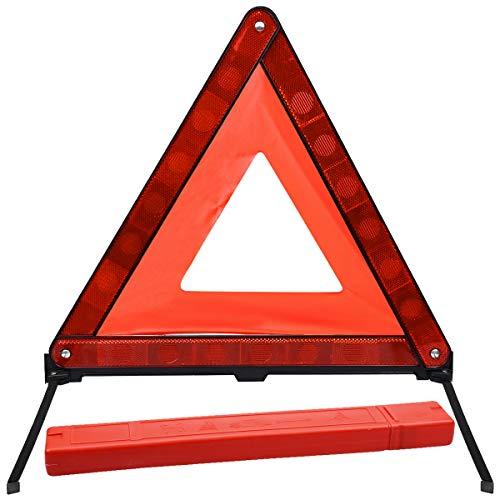 Netspower Warndreieck Notfalldreieck, Faltbares Warnsignaldreieck Pannendreieck Sicherheit Warnzeichen Warnhinweise mit reflektierendes und Aufbewahrungsbox für Autozubehör Notfälle