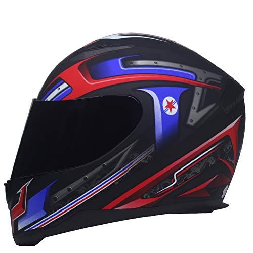 Casco antiniebla Suanproof de Cara Completa Classic Moto Go Kart para Hombre Racing Protectores Tapones Mujer Moto Casco Profesional Mountain Bike Motocross Cascos XXL(63-64cm) 2