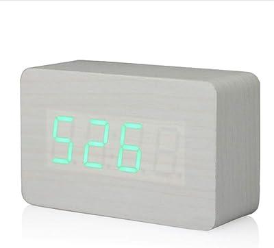 Shuangklei Led Reloj Digital Reloj Despertador Hora Termómetro Calendario