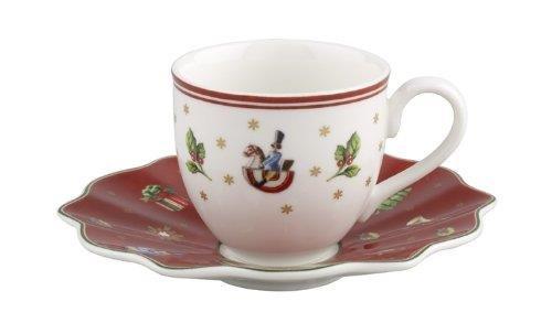 Villeroy & Boch Set Moka/tazzina da caffè con piattino, Porcellana, Multicolore, 22x 16x 8cm