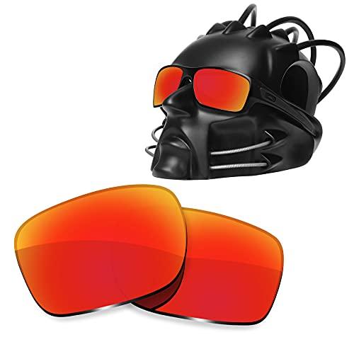 ToughAsNails Reemplazo de lente polarizada para Oakley Turbine Sunglass - Más opciones, Naranja Fuego, Talla única