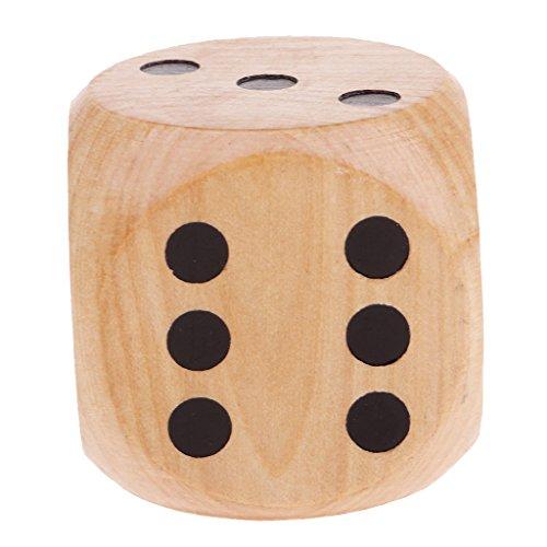 Baoblaze 1 Stück Sechsseitige Würfel D6 Würfel Multi-seitig Würfel Spielwürfel 5cm für Indoor- Oder Outdoor-Partys - Kräftiges Holz
