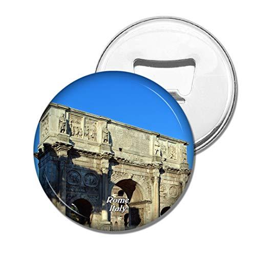 Weekino Imán de refrigerador Italia Arco de Constantino Roma Cerveza Abrebotellas Viajar Recuerdo Colección Etiqueta engomada Fuerte del refrigerador Regalo