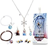 Disney Frozen 2 Juguetes Niña Set de Joyas, Accesorios Disfraz Frozen con Princesas Anna Elsa, Joyas Niña con Collar Pulsera y Pendientes, Regalos Frozen para Niñas 3+