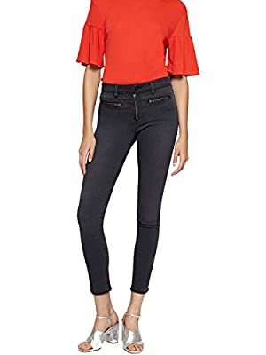 Sanctuary Women's Jr Robbie Zip-Pocket Skinny Jeans Black Wash 32