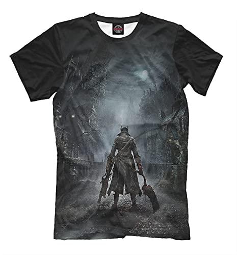Bloodborne T Shirt Action Role Playing Game Tee Men T-Shirt 100% Cotton Sleeve Shirt Black 3XL