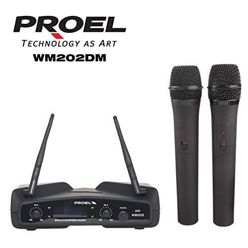 PROEL WM202DM - Coppia Radio microfono a gelato DUAL...