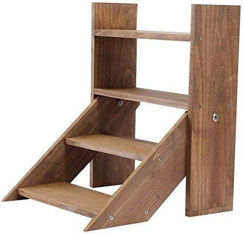 YLongFEI Bloemenstandaard Opslagruimte Bloemenstandaard Plantenpot Houder Mini Bonsai Display Plank Pottenrek Houten Ladder Binnen Decoratie voor Tuin Balkon