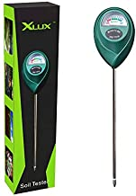 XLUX Soil Moisture Meter, Plant Water Monitor, Soil Hygrometer Sensor for Gardening, Farming, Indoor and Outdoor Plants, No Batteries Required