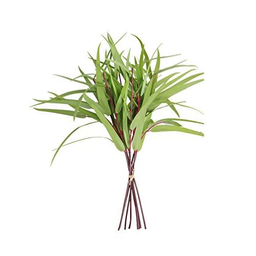 LIOOBO Packung mit 8 künstlichen Pflanzen gefälschte Salix Blatt Simulation grünes Gras Hausgarten Dekoration grün