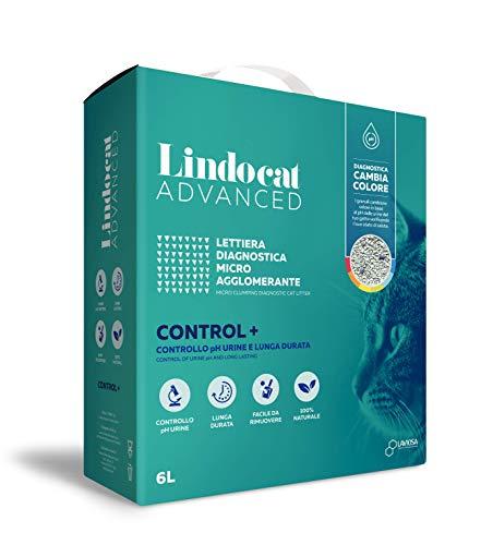 Lindocat Advanced Control Plus Lettiera Gatto diagnostica per malattie Gatto Naturale da 6 Litri