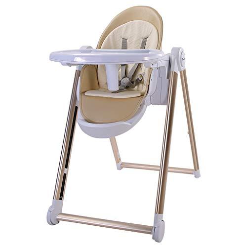 Luxe ligstoel, kinderzitje, kinderstoel, kinderstoel, kinderstoel, multifunctioneel, draagbaar, kinderstoel, converteerbaar tot junior stoel (roze Beige) Beige