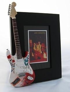 JIMI HENDRIX miniatura Marco de la guitarra Imagen MONTEREY POP