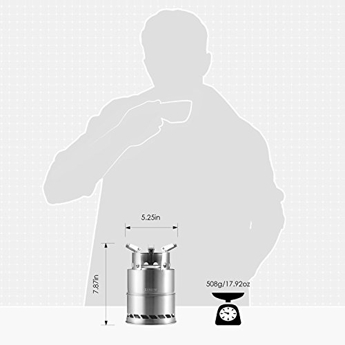 Product Image 5: CANWAY Camping Stove, Wood Stove/Backpacking Stove,Portable Stainless Steel Wood Burning Stove with Nylon Carry Bag for Outdoor Backpacking Hiking Traveling Picnic BBQ