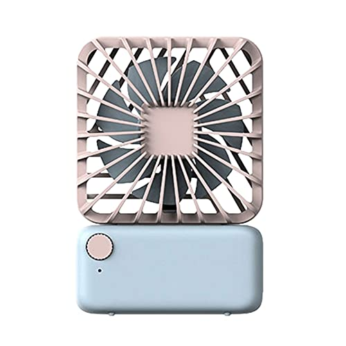 LIANG XINGS Fan Portable Cuadrado pequeño Ventilador silencioso portátil Colgando Cuello eléctrico...