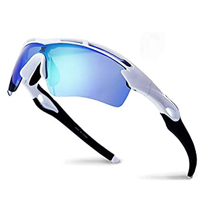 XR Unisex Polarized Sports Sunglasses for Men Women TR90 Ultra Lightweight Unbreakable Frame 100% UV Protection (Green