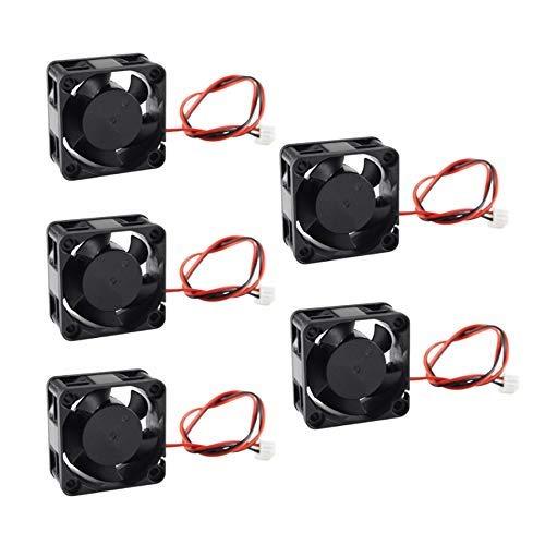QOHFLD Accesorios de Impresora 5 Piezas 3D Parte de la Impresora 4020 Ventilador de refrigeración 12V sin escobillas -Enfriador 40mm Ventilador de Nevera 40X40X20mm (Size : 24V)