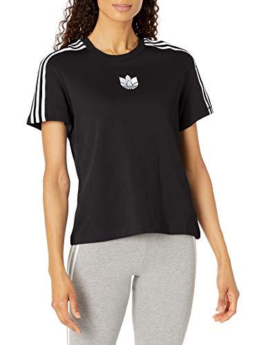 adidas Originals Camiseta holgada para mujer. - negro - Large