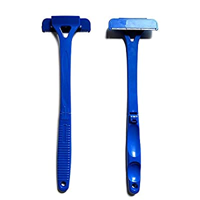 Back Shavers for Men Back Hair Remover Stretchable Back Razor Hair Trimmer Removal Tool Detachable & Foldable