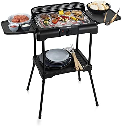 Barbecue 2-en-1 Princess 112250 - Démontable en grill de table -2 000 W - Surface de cuisson 40 x 24,5 cm - Avec bac à eau