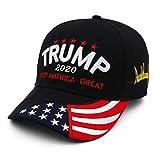 PILLAROST ドナルドトランプ帽子 野球帽 ベースボールキャップ 米国 ドナルドトランプハット キャップ Keep America Great 刺繍入り サイズ調整可能 アメリカ大統領 選挙活動 個性感満点 5種類タイプ