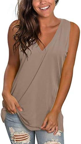 Flowy T Shirts Sleeveless Cami Tank Top Women Inner Cloth Stylish Plain Khaki M product image