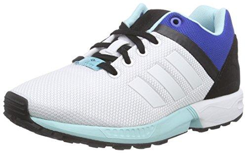 adidas Unisex-Erwachsene ZX Flux Split Laufschuhe, Weiß (Ftwr White/Ftwr White/Clear Aqua), 46 2/3 EU