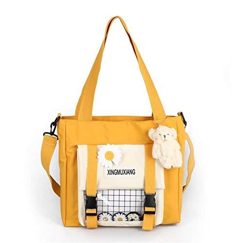 XMYNB Schultasche Frauen Umhängetasche Casual Tote Große Kapazität Crossbody Shopping Tasche Nette Bookbag Für Teenager-Mädchen