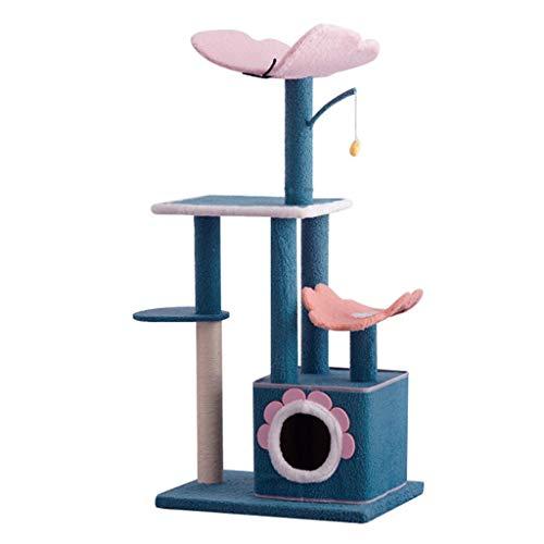 Poste Rascador Elevado para Árbol De Gato, Centro De Actividades para Marco De Escalada para Gatos, Poste Rascador, Apartamento para Gatos, Torre De Árbol, Marco para Escalar